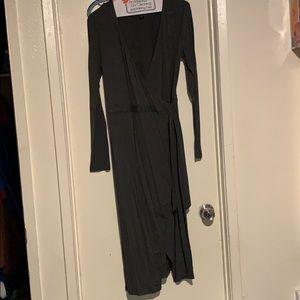 V shaped slit dress